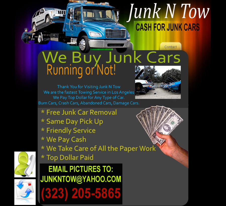 Junk My Car For 500 Cash >> Junk N Tow Cash For Junk Cars Junk Car Removal Junk Car